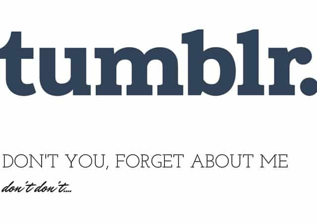 Tumblr. Social Media Marketing.