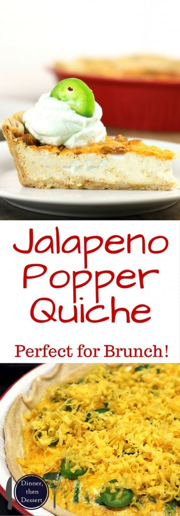 Jalapeno Popper Quiche - Dinner, then Dessert