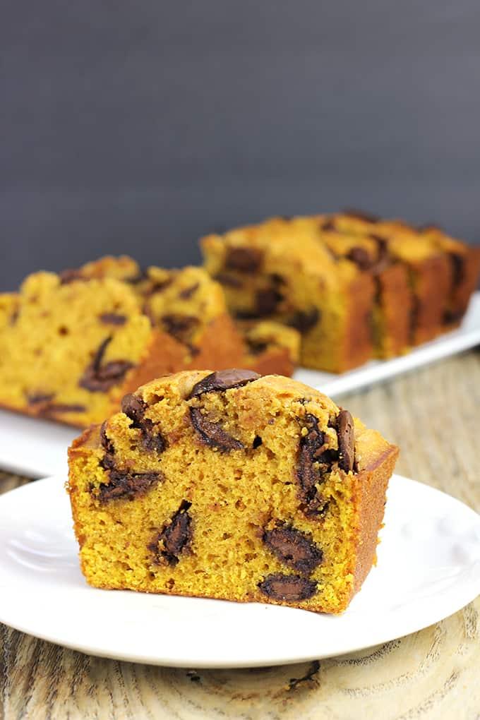 Pumpkin Chocolate Bread - Dinner, then Dessert