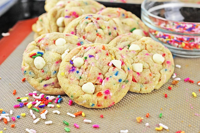 Chewy Crispy Delicious Cookies That Taste Like A Birthday Cake Covered In Sprinkles