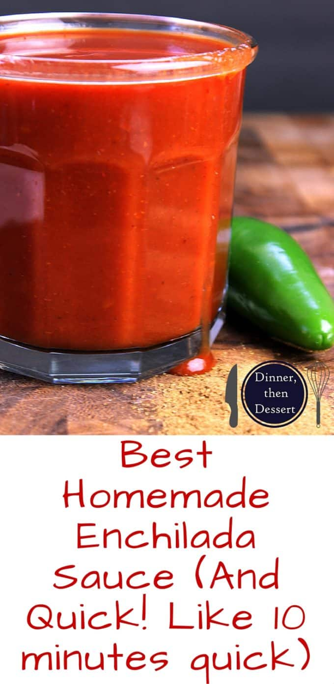 ... ten minutes! Homemade Enchilada sauce that is so good you'll top it on