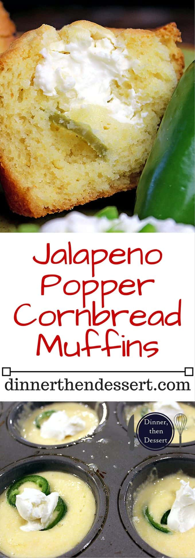 Fluffy buttermilk cornbread muffins filled with cream cheese and jalapenos make for a delicious jalapeno popper cornbread. Your chili or soup will never have tasted better!