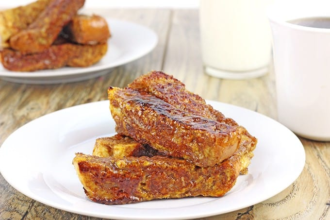 Brled pumpkin french toast sticks dinner then dessert brled pumpkin french toast sticks french bread soaked in a pumpkin egg custard flavored with solutioingenieria Choice Image