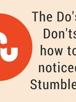 The Do's and Don'ts of how to get noticed on StumbleUpon