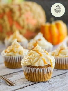 Ali's Harvest Pumpkin Cupcakes with a Salted Caramel Frosting
