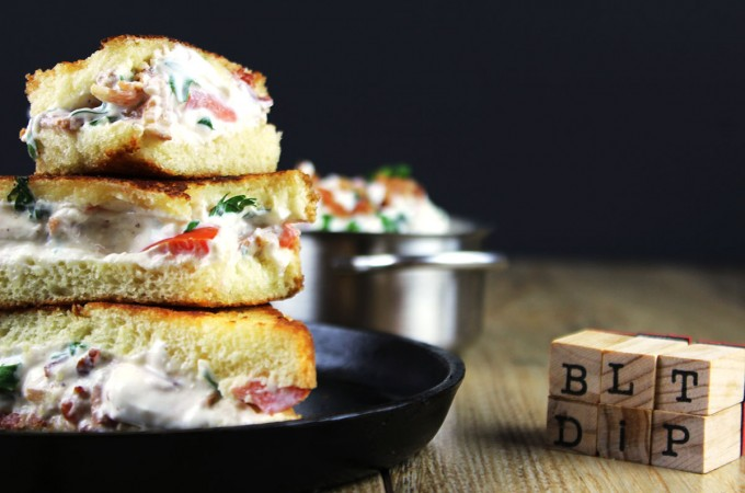 BLT Dip Grilled Cheese (Gameday Leftovers Recipe!)
