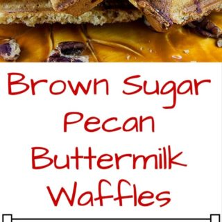 Brown Sugar Pecan Buttermilk Waffles are the perfect warm and cozy breakfast you'll want to enjoy now that the weather is cooling down but not full of holiday ingredients you may already have your fill of!These waffles are sweet from the brown sugar, tangy from the buttermilk, crunch from the minced pecans in the waffle and fluffy all at the same time. It also doesn't hurt that you can start the batter and be eating in less than 20 minutes!