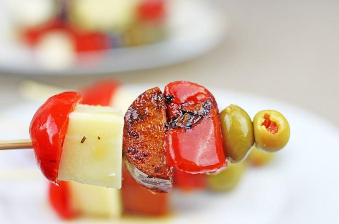 Chorizo Tapas Skewers + 3 EASY ways to Roast Bell Peppers!