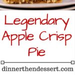 The best, most decadent apple pie you will ever have. Instead of a classic apple pie or apple crisp you get the best of both worlds with an Apple Crisp Pie! The ingredients may look daunting but there are a LOT of duplicate ingredients used in different parts of the recipe.