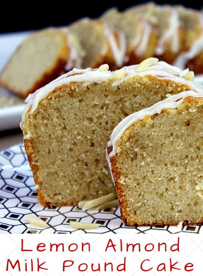 Almond Milk and Coconut Oil gives this Iced Lemon Pound Cake a wonderful hint of almond and keeps it dairy free.