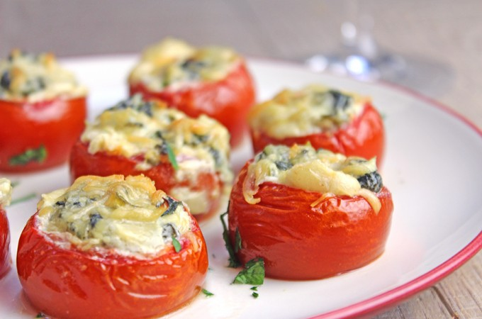 Tomatoes Rockefeller – Holiday Party Appetizer!