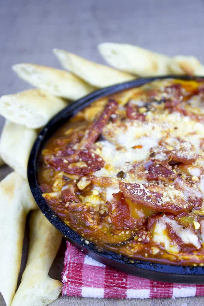 Pepperoni Pizza Dip V
