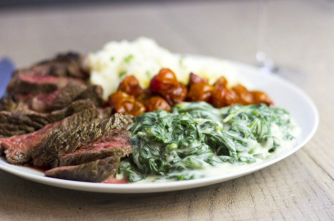 Classic Steakhouse Creamed Spinach