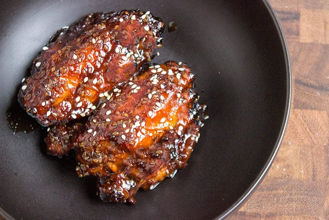 Chicken wings made with Asian chicken marinade