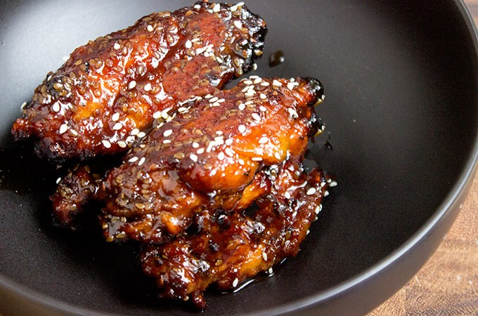 Baked Sticky Asian Chicken Wings