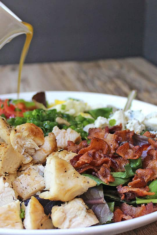 Cosi Cobb Salad with grilled chicken, bacon, eggs, gorgonzola and more ...