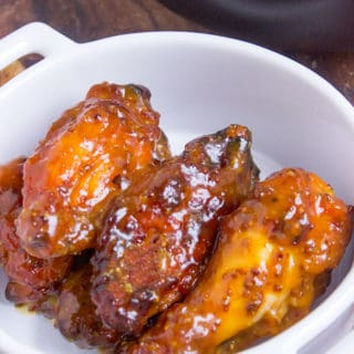 Tossed in a honey mustard and BBQ sauce, these chicken wings will be the hit of your game day party