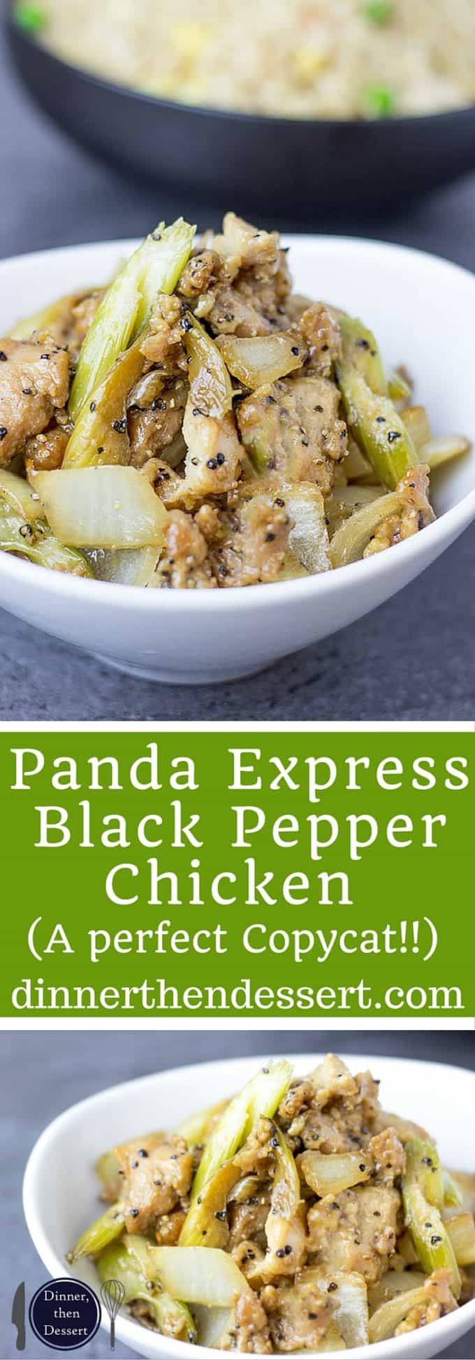 Panda Express Black Pepper Chicken is marinated ginger soy chicken, in a peppery black pepper sauce with celery and onions that tastes exactly like the Panda Express version you love! And really low in fat and WW points!