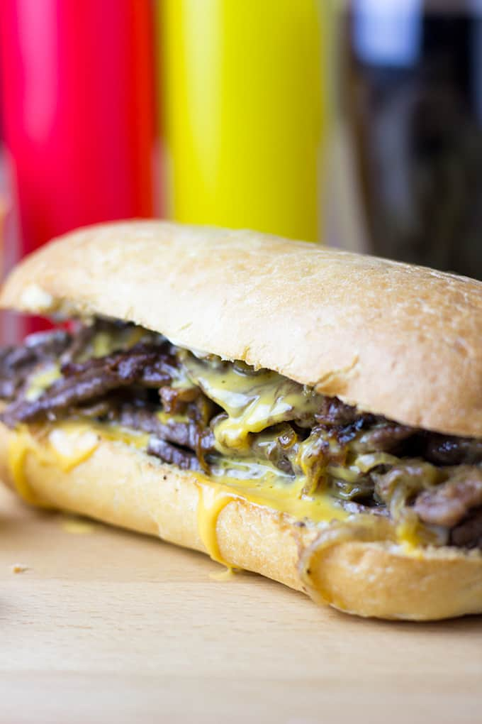 The undisputed king of cheese steak subs, the magic is in the technique of Pat's Philly Cheese Steak. dinnerthendessert.com