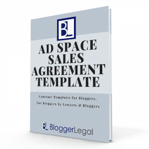 Blogger Legal Ad Space Sales Agreement