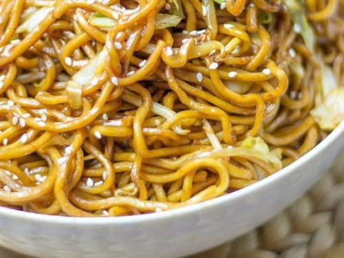 classic chinese chow mein dinner then dessert
