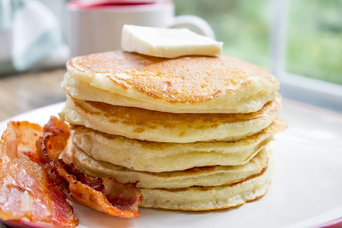 Easy Pancake Recipe made with basic pantry ingredients
