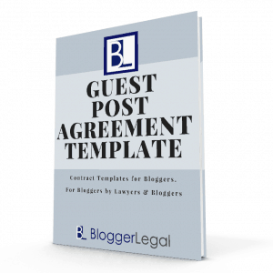 Blogger Legal Guest Post Agreement Template