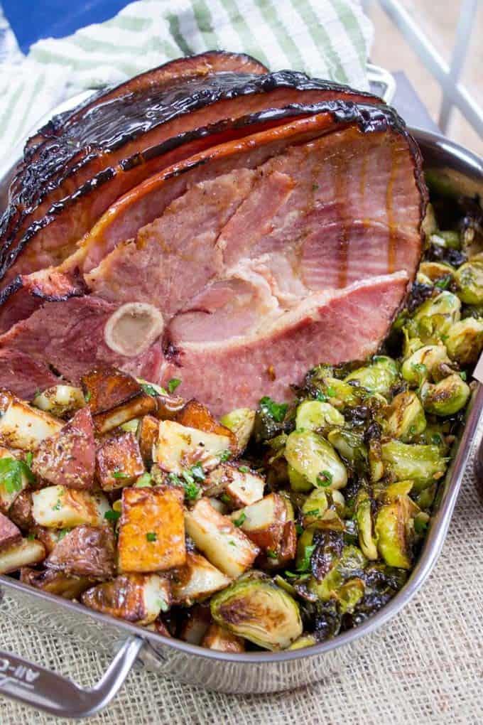 Campfire Sugar Ham With Dijon Roasted Potatoes Dinner Then Dessert