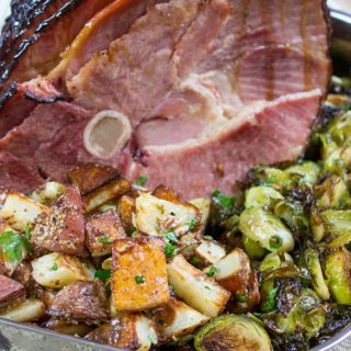 Campfire Sugar Ham with Dijon Roasted Potatoes adds a perfectly sweet and savory dimension to your Easter dinner.