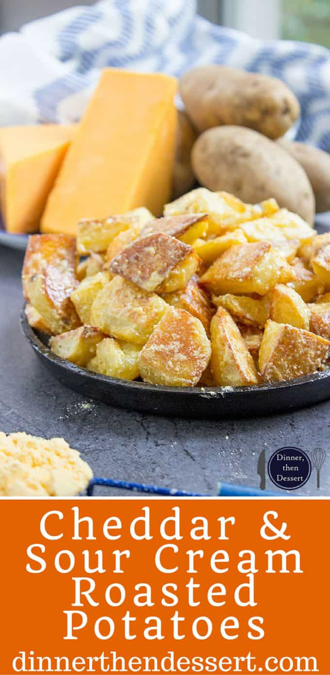 All the flavors of Cheddar and Sour Cream Potato Chips on freshly roasted potatoes! Made with 100% natural powdered cheddar and sour cream and totally craveable!