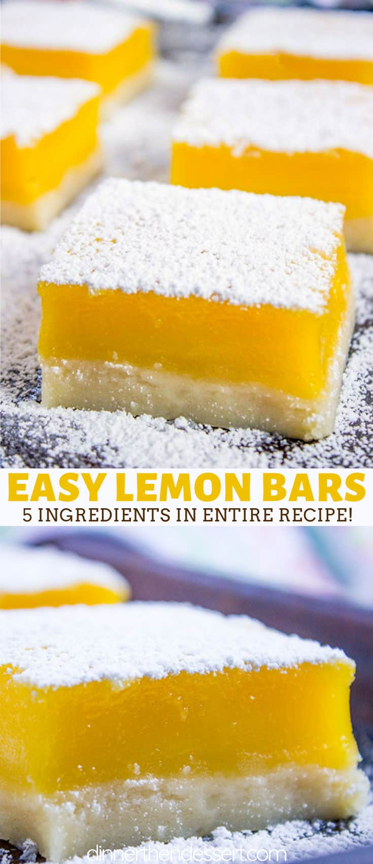 Easy Lemon Bars (Lemon Squares)