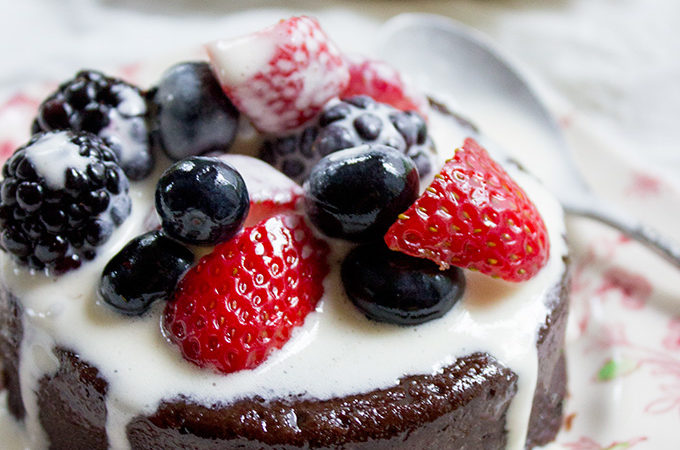 Flourless Mocha Cake with Creme Anglaise