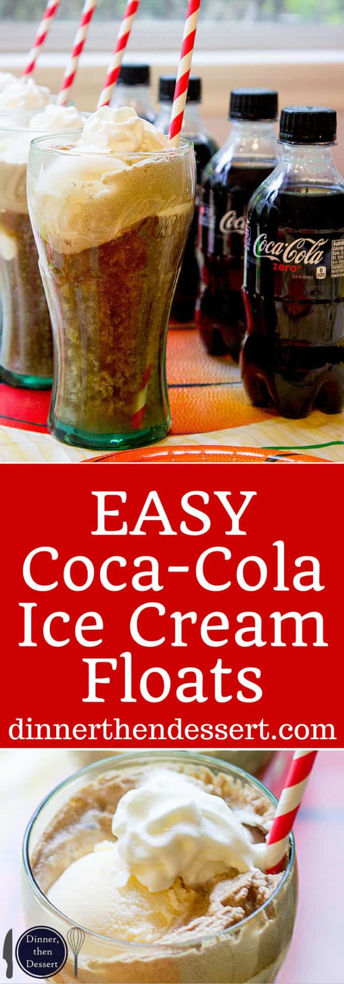 Delicious, EASY Coca-Cola Ice Cream Floats are a nostalgic throwback to childhood! AD. #Greattastetourney