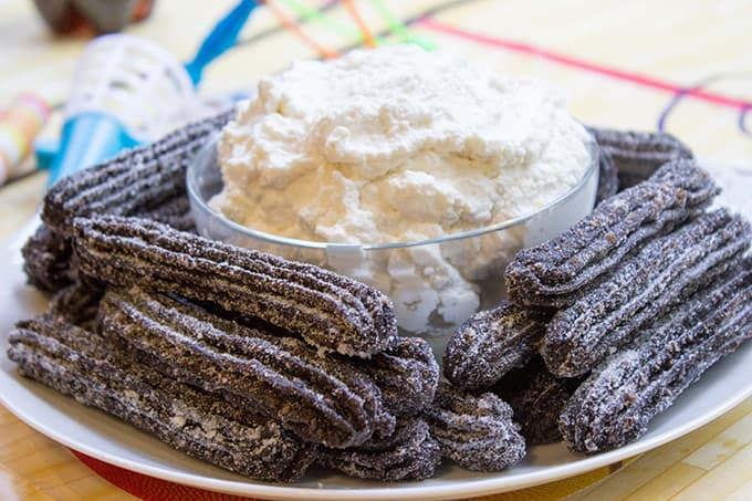 Oreo Churros are crispy, tender, perfectly chocolate-y and perfectly paired with Oreo filling whipped cream dip for dunking. The viral recipe made easy.
