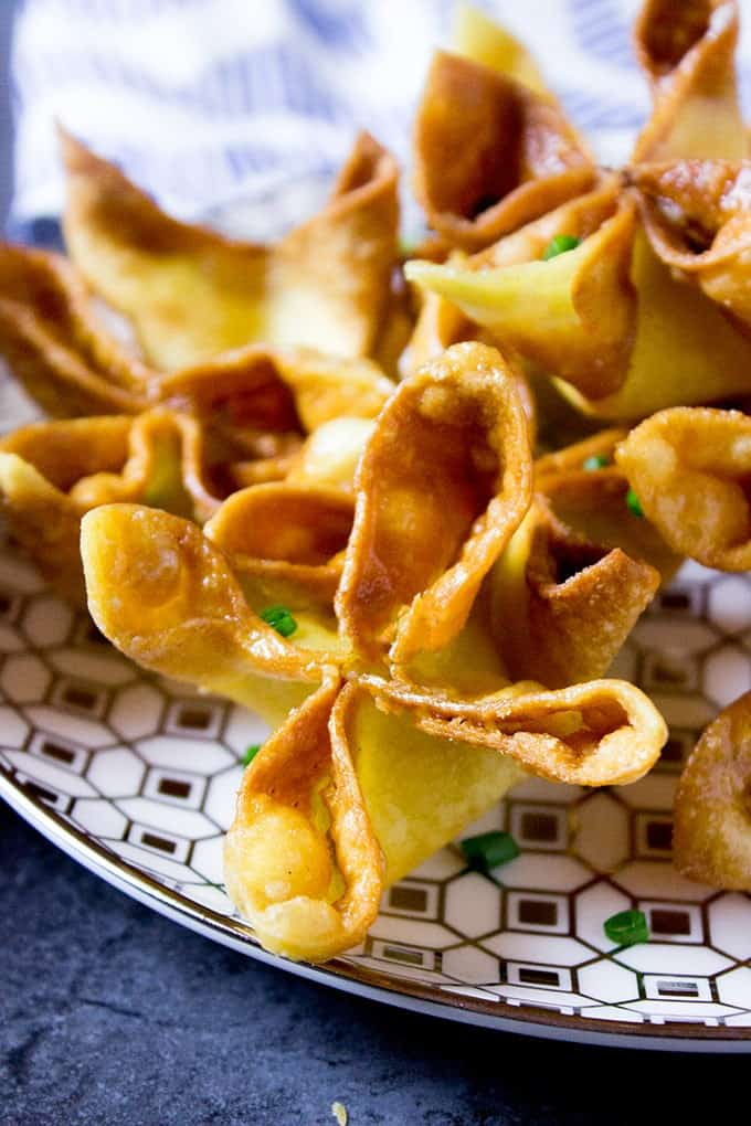 Panda Express Cream Cheese Wontons on platter