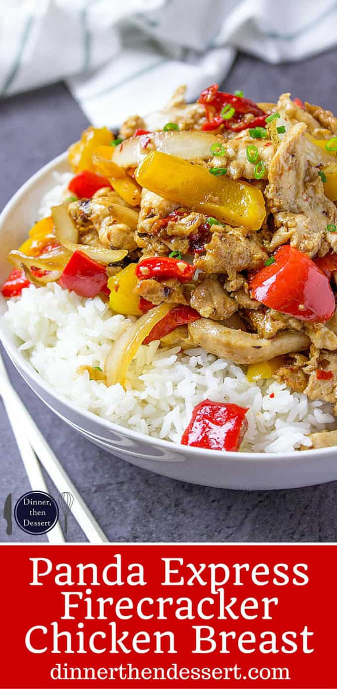 Panda Express Firecracker Chicken Breast with marinated white meat and peppers in a spicy black bean sauce. An authentic recipe from Panda Express!