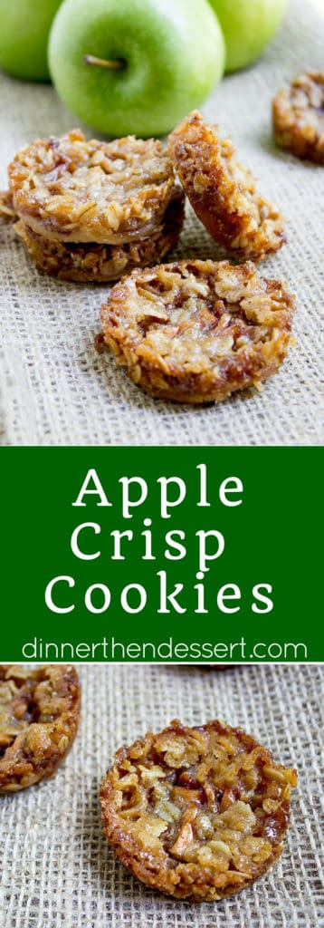 Apple Crisp Cookies Dinner Then Dessert