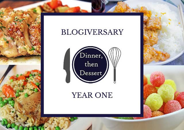 Blogiversary One: A look back over the first year of blogging at Dinner, then Dessert including traffic totals, growth and most popular posts.