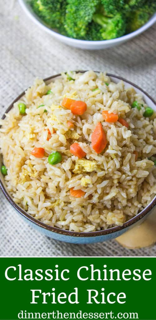 Classic Fried Rice takes just ten minutes to make with day old steamed ...