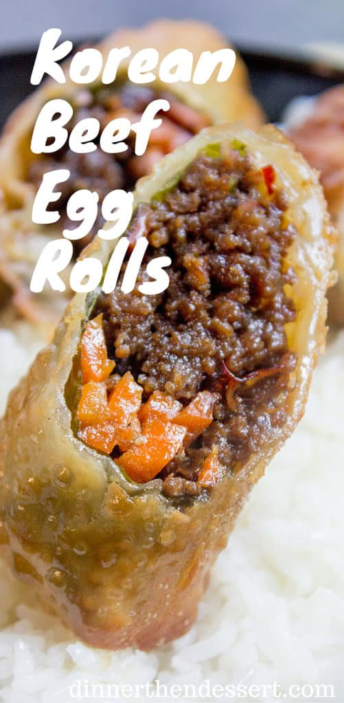 Korean Ground Beef Egg Rolls Made With Just A Few Ingredients Are A Great Party Food