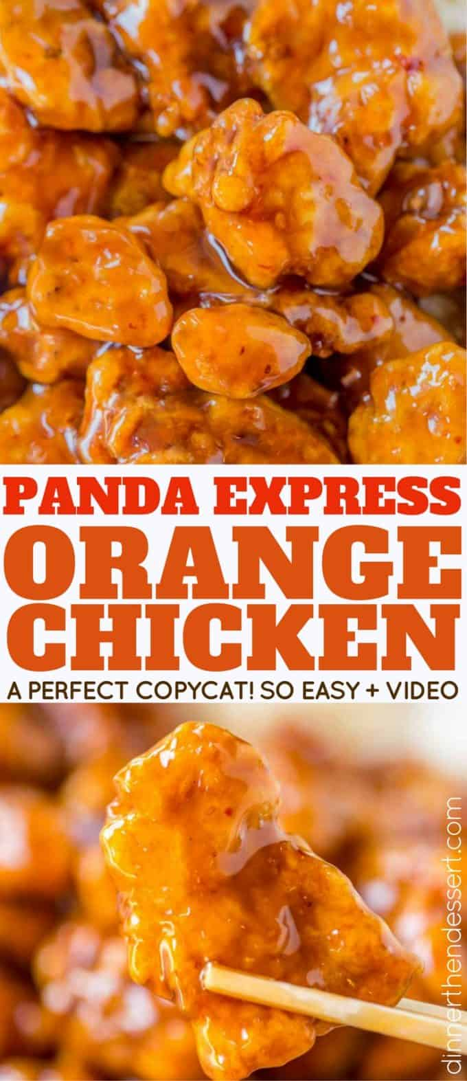 Panda express orange chicken copycat dinner then dessert panda express orange chicken with tender chicken thighs fried crisp and tossed in a magical perfect forumfinder Choice Image