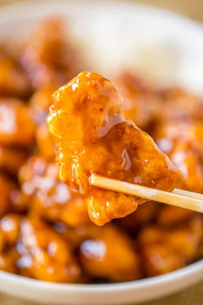 This Panda Express Orange Chicken Copycat is spot on and is SO EASY. PLUS theres a video!