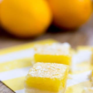 Trader Joe's Classic Lemon Bars have a crispy buttery crust with a sweet and sour lemon filling.