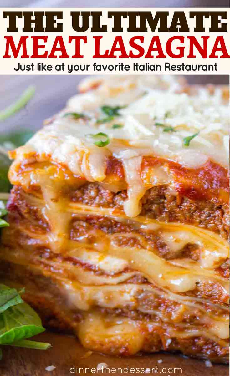 four cheese and meat lasagna
