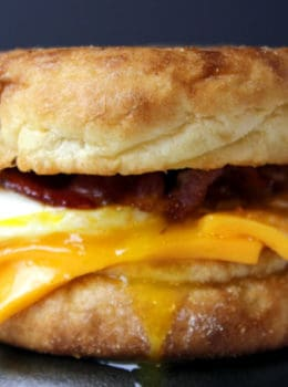 Egg, Bacon and Cheese McMuffin made to serve a crowd with little effort with some easy prep tricks, you won't miss the fast food version for even a second!