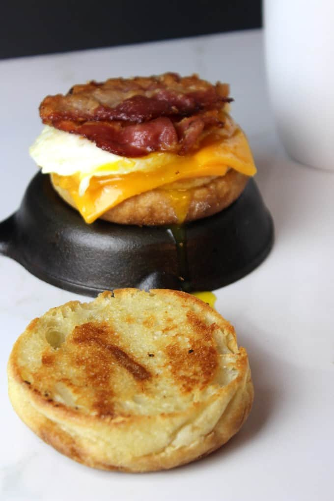 Bacon And Cheese Egg McMuffin Cups Recipe — Dishmaps