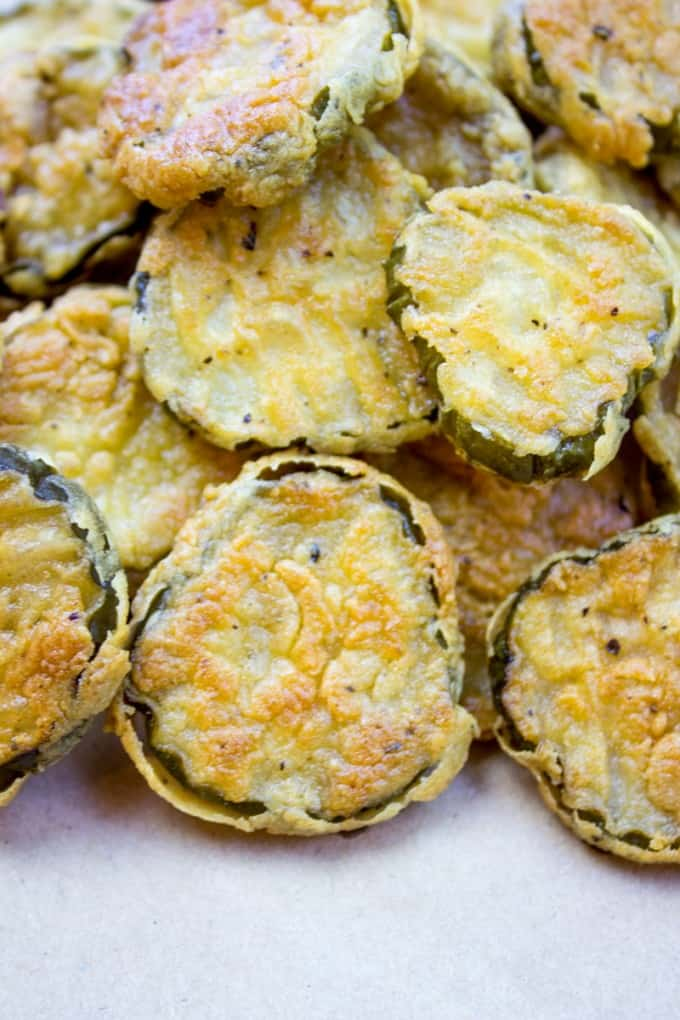 Fried Pickles piled high for a side dish