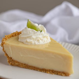 Slice of Key Liume Pie with whipped Cream