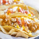Beer Battered Crispy Fish Tacos with Mango Habanero Salsa are crunchy, fresh, sweet and spicy. A breeze to make and perfect for the summer!