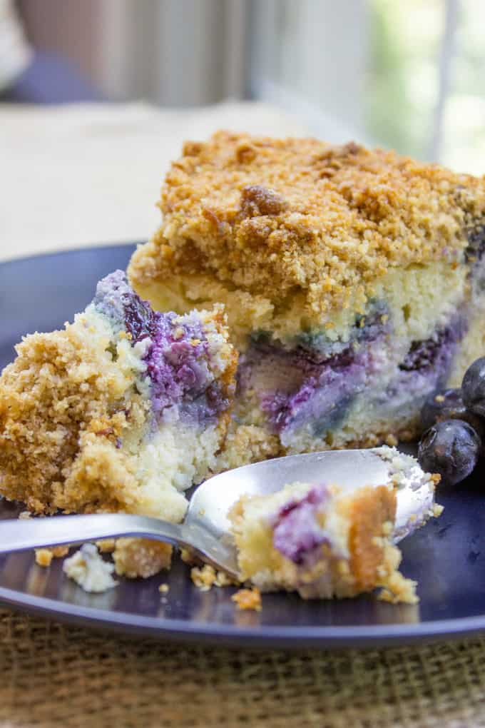 Blueberry Cream Cheese Coffee Cake Dinner Then Dessert